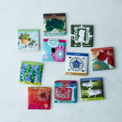 Greens & Edible Flower Seeds (Set of 10)