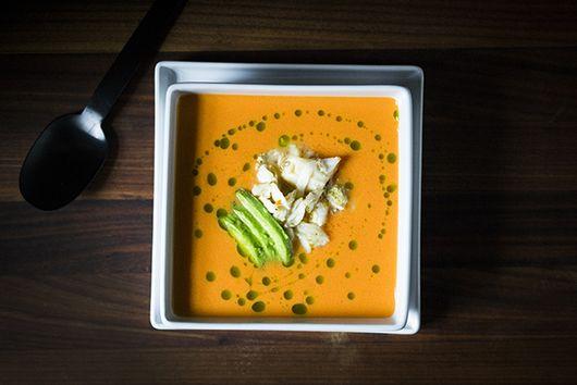 Heirloom Tomato Soup with Jumbo Lump Crab Meat