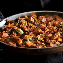 Red hot Oyster and Kimchi Stuffing
