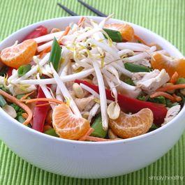 Chinese Chicken Salad with Honey Peanut Dressing