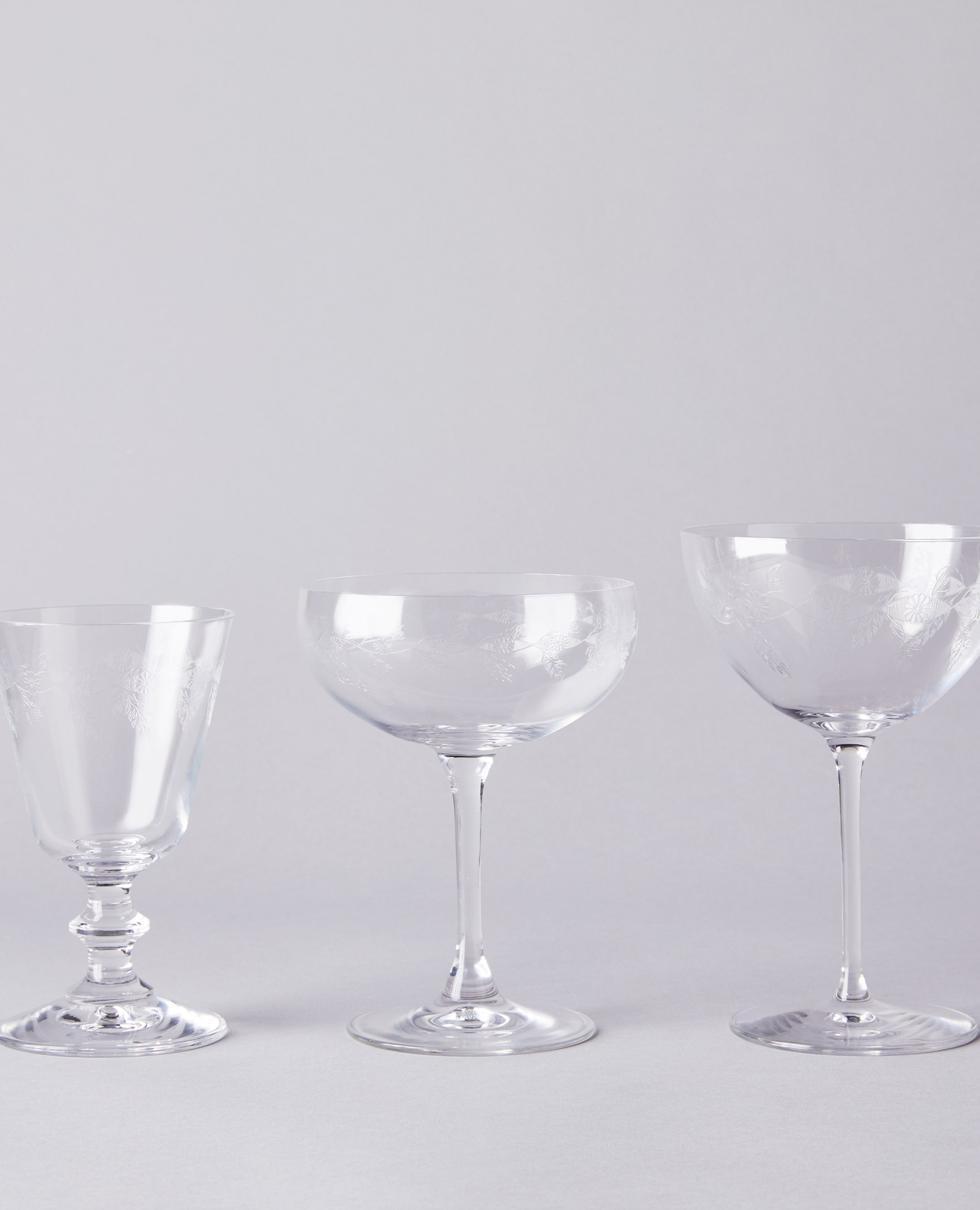 Food52 Vintage Inspired Etched Glassware 3 Styles On Food52