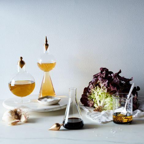 Geometric Glass & Brass Vessels