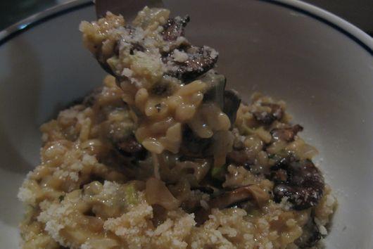 Mushroom Risotto with Creamy Leeks