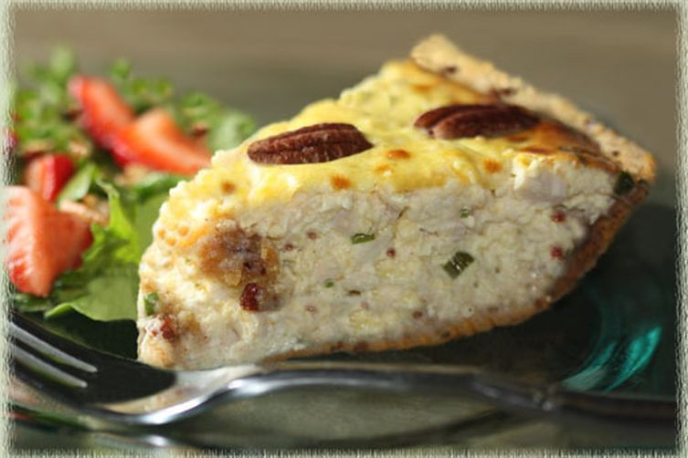 Chicken-Pecan Quiche