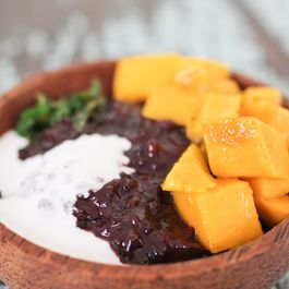 Black Rice Pudding with Mango & Mint