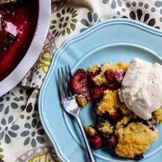 Perfect Vegan and Gluten Free Berry Cobbler
