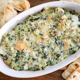Four Cheese Spinach Artichoke Dip