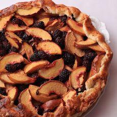 Peach and Blackberry Crostata