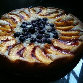 Tweet-able Peach Torte