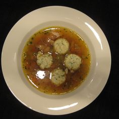 Ricotta, sage and garlic dumplings for soup