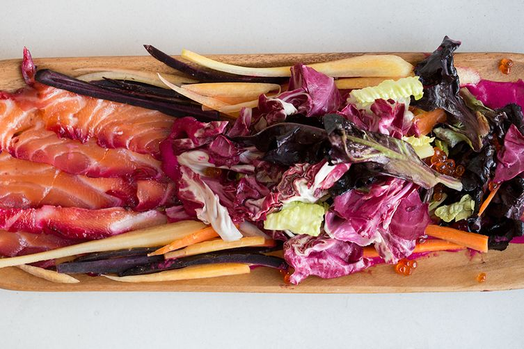 Beet Stained Gravlax