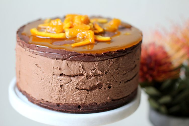 No-Bake Chocolate Orange Mousse Cake