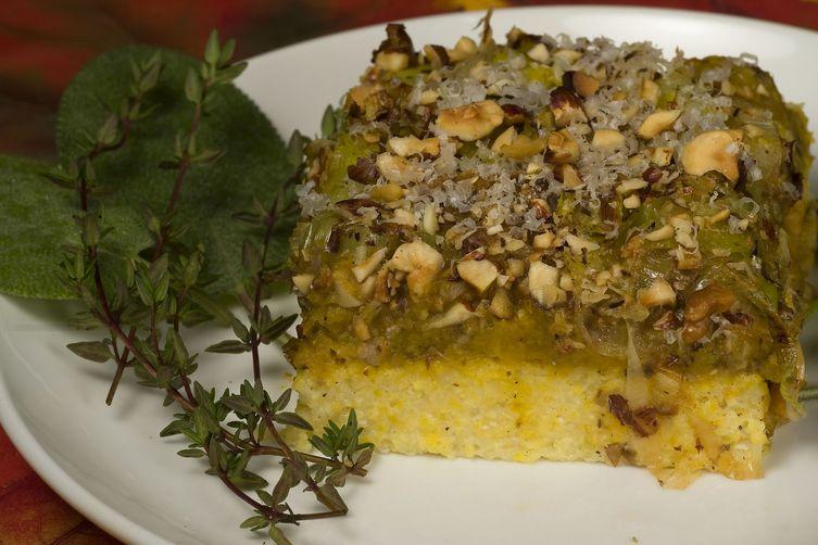 Butternut-Mushroom Polenta Casserole