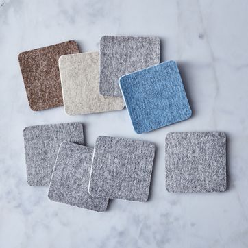 Set of 4 Recycled Felted Wool Coasters BF