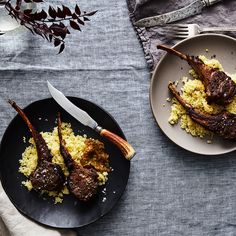 Pan-Seared Lamb Chops with Preserved Lemon Harissa Relish
