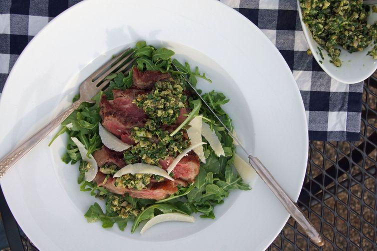 Grilled Steak Salad with Italian Salsa Verde