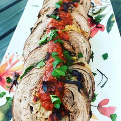 Braciole with Sundried Tomato Port Wine Reduction Sauce Recipe