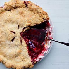 Plum Raspberry Pie (for Breakfast)