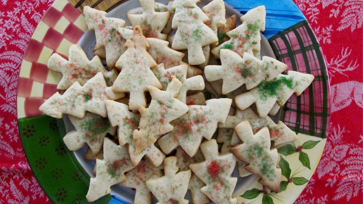 Double Vanilla Holiday Cut Out Cookies