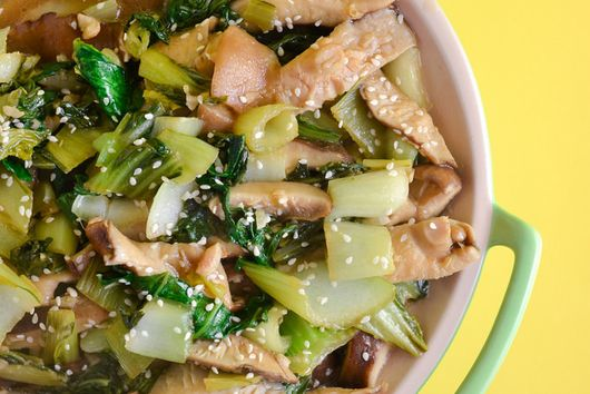 Ginger Sesame Bok Choy With Shiitake Mushrooms