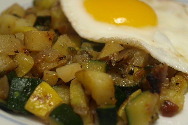 Summer Hash – Zucchini, Summer Squash, Sage, and Yukon Gold Potatoes
