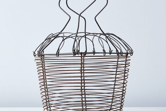 Vintage French Wire Egg Basket