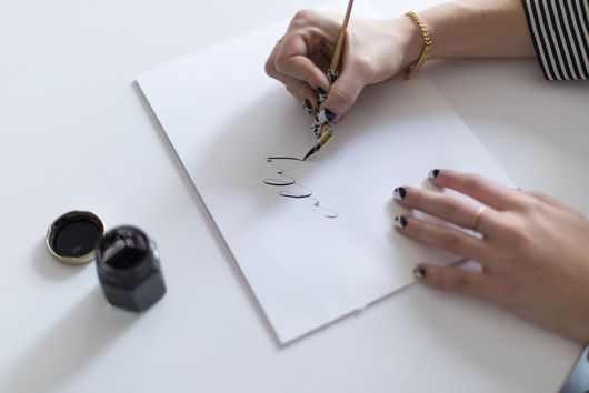 Reimagining Calligraphy in an Unexpected, Modern Way (& How to Bring It Into Your Home!)