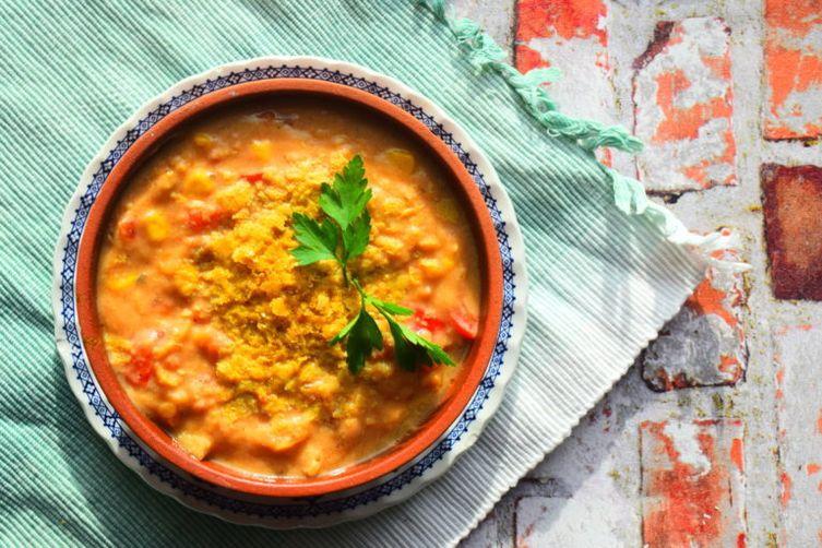 Vegetarian Spiced Lentil Soup