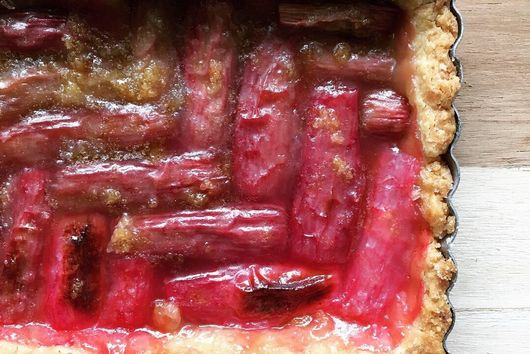 Rhubarb Ginger Tart