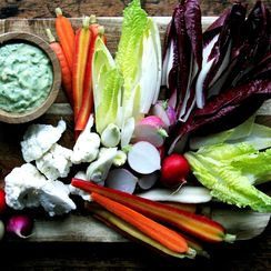 Pickled Crudité with Green Goddess Dressing