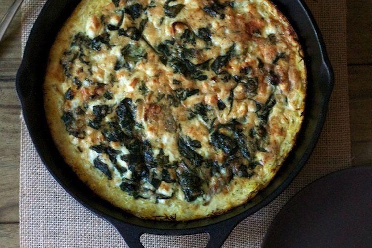Spinach & Feta Squash Quiche