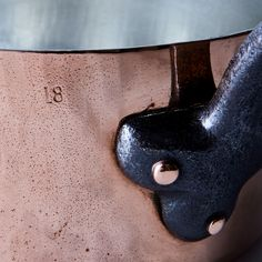 "Vintage Copper French ""Paris"" Saucepan, Late 19th Century"