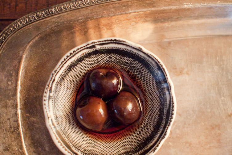 Spiced Brandied Cherries