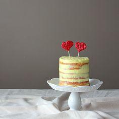 Lemon Sponge Valentine Cake