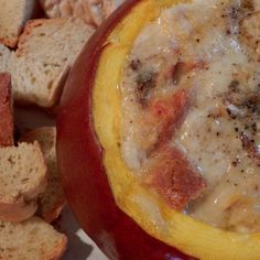 Ooey gooey pumpkin fondue