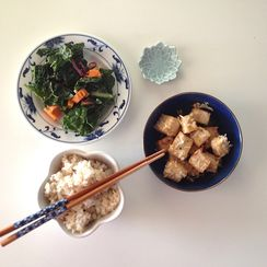 Baked Coconut Tofu with Spiced Coconut Rice
