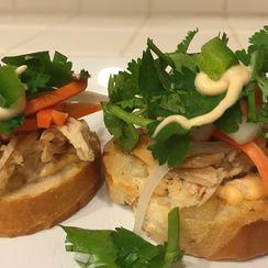 Thai Chicken Banh Mi Bites