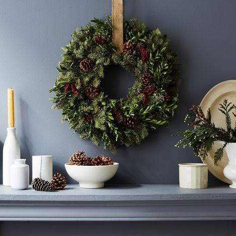 Fir & Canella Berry Wreath