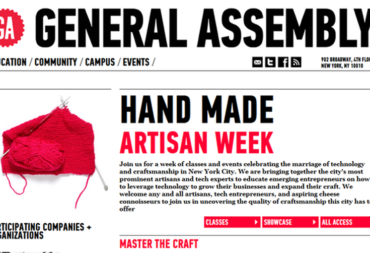 Artisan Week At General Assembly