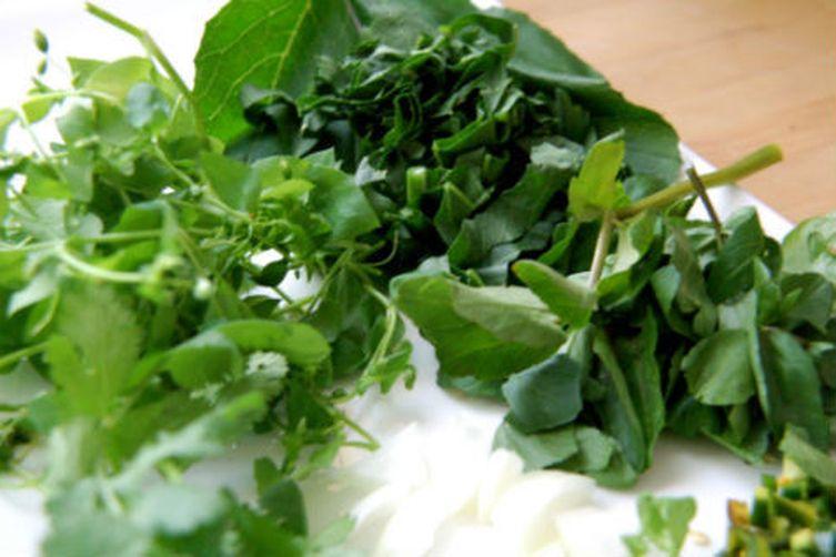 Wild Curly Dock Masala , Foraged Watercress & Wild Spicy Mustard Leaf Chutney