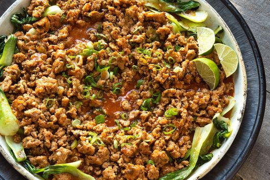Teri Turner's Ground Chicken Curry With Bok Choy