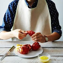 Seersucker Lobster Bibs (Set of 2)