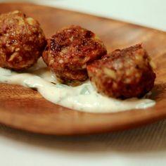 Harissa Spiced Meatballs with Cilantro Yogurt
