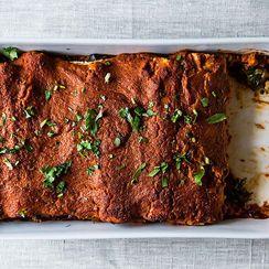 Wintry Mushroom, Kale, and Quinoa Enchiladas + Orange Ginger Mint Sodas