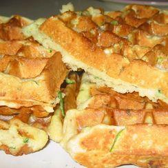 Buttermilk Zucchini Bread Belgian Waffles