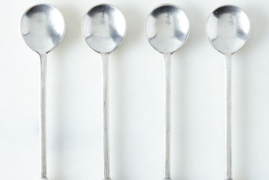 Small Pewter Spoons (Set of 4)