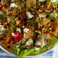 Salad with caramelized fennel and apples