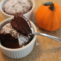 Pumpkin Chocolate Fudge Cake