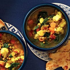 Slow-Cooker Moroccan-Spiced Lentil Soup