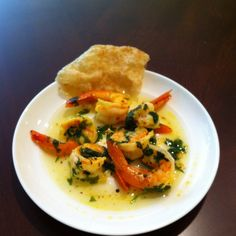 Steamed Mustard Shrimp